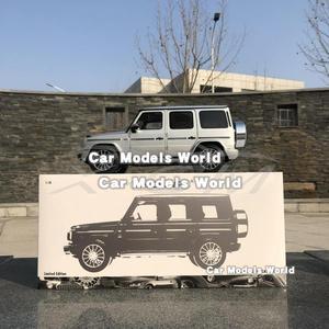 Image 5 - Литая под давлением модель автомобиля для мини хампс G Class (W 463) (серебристый) 1:18 + маленький подарок!