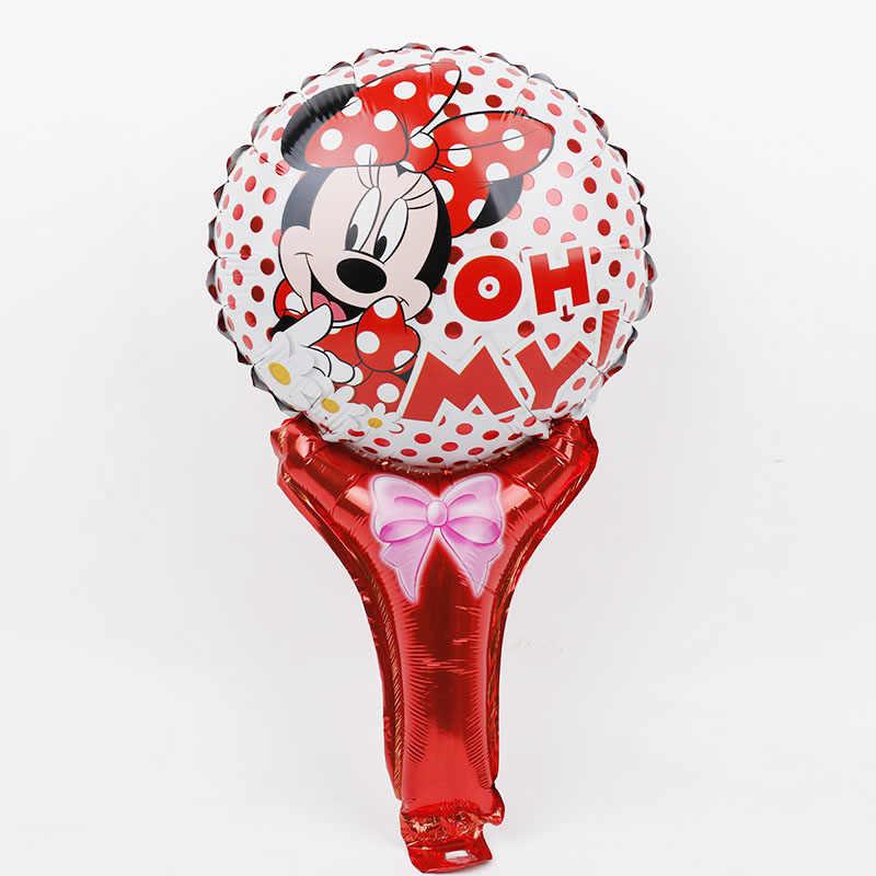 1pc Elsa Ana mickey minnie Sticks balon Disney księżniczka laski ręczne z balonów foliowych dekoracja urodzinowa dla dzieci zabawki dla dzieci