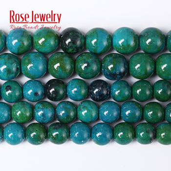 Fashion Round Beads Chrysocolla 4/6/8/10/12 mm Loose Spacer Stone Beads for DIY Bracelet Necklace Jewelry Making 15'' Strand цена 2017