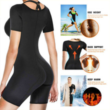 Hot Neoprene Sauna Suit Full Body Shaper Ultra Sweat Weight Loss  Bodysui Underbust Fajas Waist Trainer Shapewear with Zipper