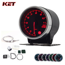 2 Inch 52MM Smoke Lens 1100Celsius EXT Temp Gauge Exhaust Temperature Meter With Electronic Sensor