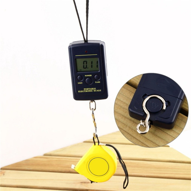 Digital kitchen scales luggage scale load 40kg lcd mini protable pocket weighting fishing scale electronic hanging balance fish