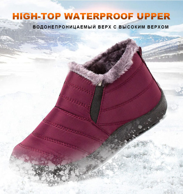 2019 Fashion Men Boots Winter Snow Boots Outdoor Winter Shoes Men Sneakers Plus Size Military Boots Waterproof Shoes Work Shoes 15