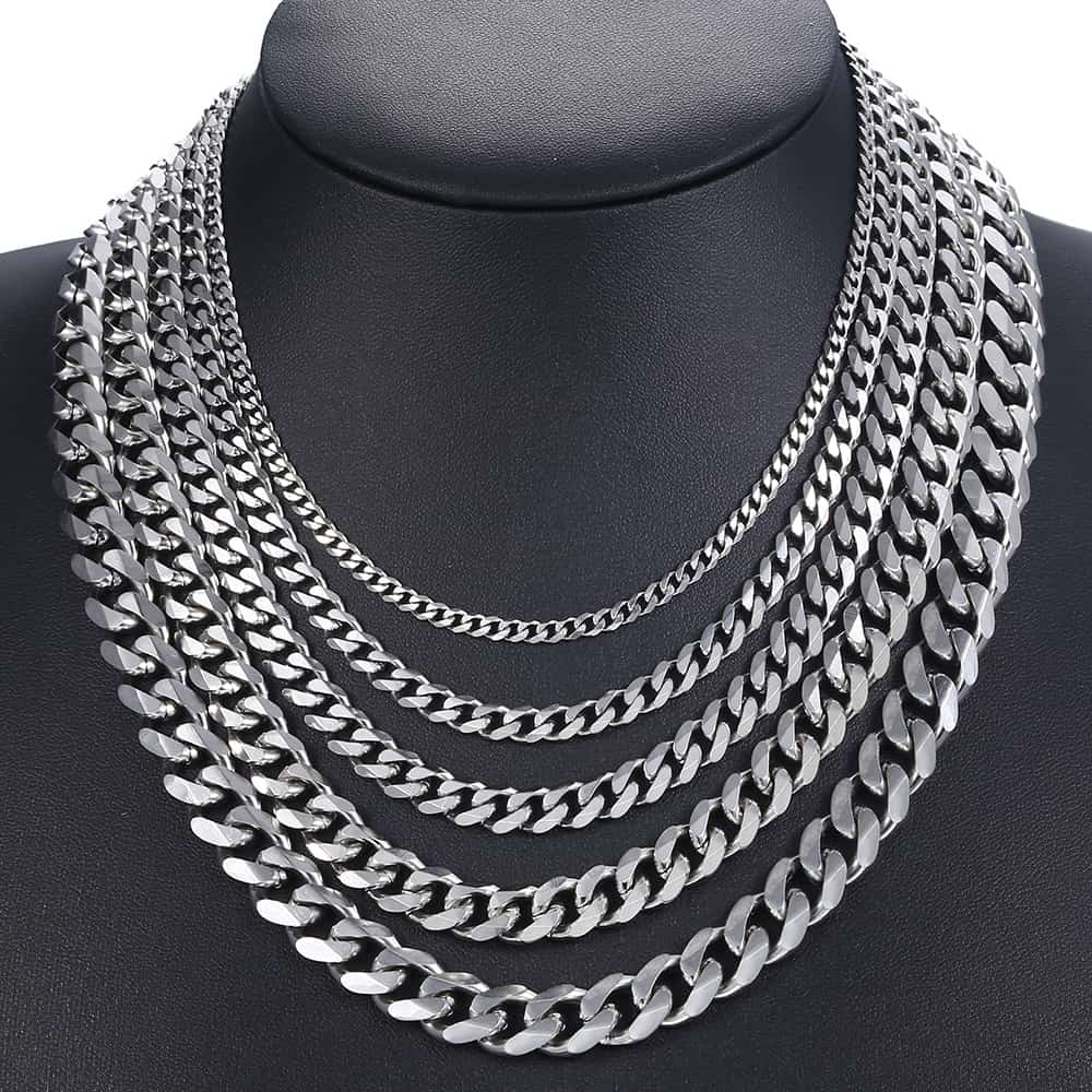 Gold, Black, Silver and Stainless Steel Mens Necklace Chain - Kito City Jewelry