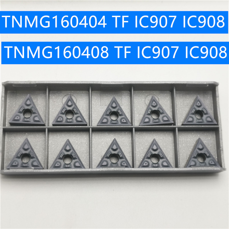 Hard Alloy TNMG160408 TF IC907  IC908 TNMG160404 Turning Tool TNMG160404 Carbide Inserts Lathe Cutter Cutting Tool CNC Tools