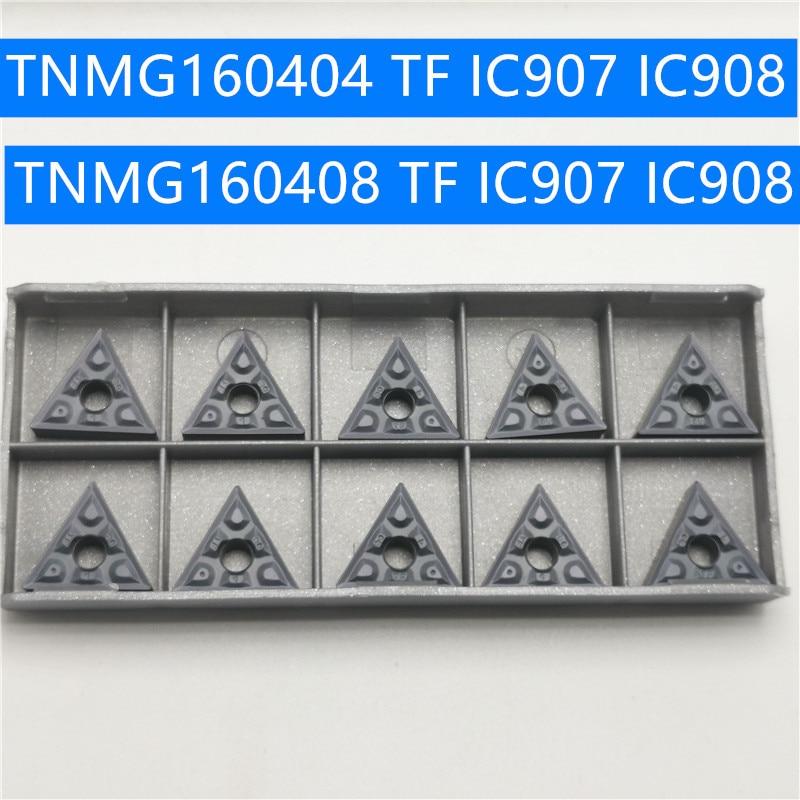 Hard Alloy TNMG160408 TF IC907 IC908 TNMG160404 Turning Tool TNMG160404 Carbide Inserts Lathe Cutter Cutting Tool CNC Tools