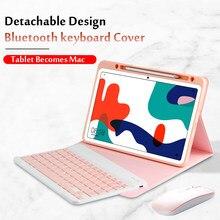 Estojo para huawei matepad 10.4 teclado sem fio bluetooth BAH3-W09/w59/al00 10.4 tablet tablet tablet suporte magnético capa funda