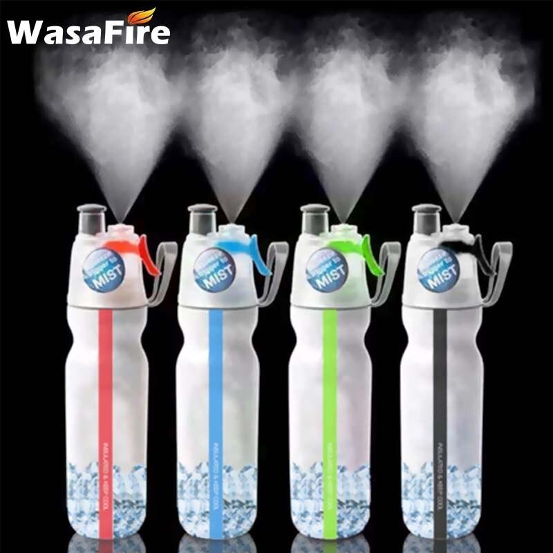 WasaFire 500ml bisiklet PE çift katmanlı soğuk sprey su şişesi anti-sonbahar bisiklet hidro şişesi spor açık koşu bisiklet su ısıtıcısı