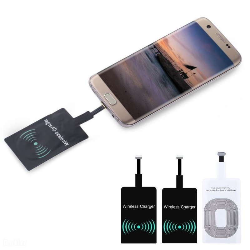 Protefeuille Universal Qi Wireless Charger Receiver For iPhone 5S SE 6 7 Plus Android Charging Adapter Pad Inductive Accessories
