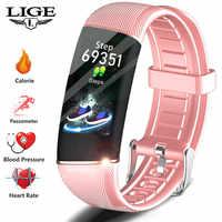 LIGE reloj inteligente mujer deporte salud pulsera inteligente presión arterial Monitor de ritmo cardíaco actividad Fitness rastreador para relojes de pareja