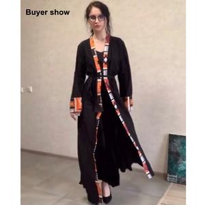 Image 5 - Dubai Dài Hồi Giáo Hồi Giáo Quần Áo Abaya Đầm Nữ Cột Dây Caftan Dài Áo Dây Hijab Đầm Lớn Đầm Dài Áo Dây áo Khoác Kimono Jubah