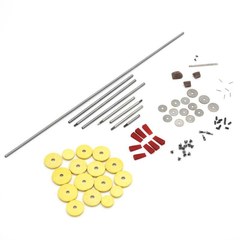 80pcs/set Flute Repair Parts Tool Maintenance Kit Screws + 16pcs Open Hole Sound Pads Woodwind DIY Accessories