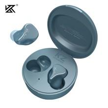 Kz sks 1ba + 1dd tws fones de ouvido bluetooth 5.2 híbrido jogo controle toque com cancelamento ruído esporte sem fio fone kz z1 s1 s2