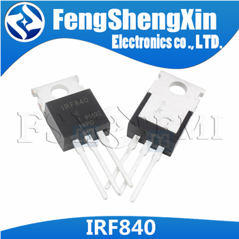 10pcs/lot IRF840 IRF840PBF IRF840N N-Channel Power MOSFET TO-220 - sale item Active Components