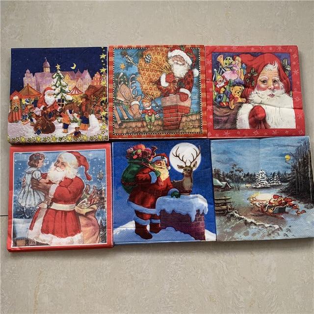 33 x 33 cm para oto/ño Navidad. invierno Servilletas de papel navide/ñas Wildlife Star Silver Lunch Party Fest aprox