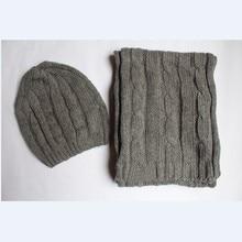 Шапка шарф для женщин зима теплая шляпа и шарф наборы мода женский шляпа шарф набор твердых шляпу и шарф набор для женщин вязаные шапочки