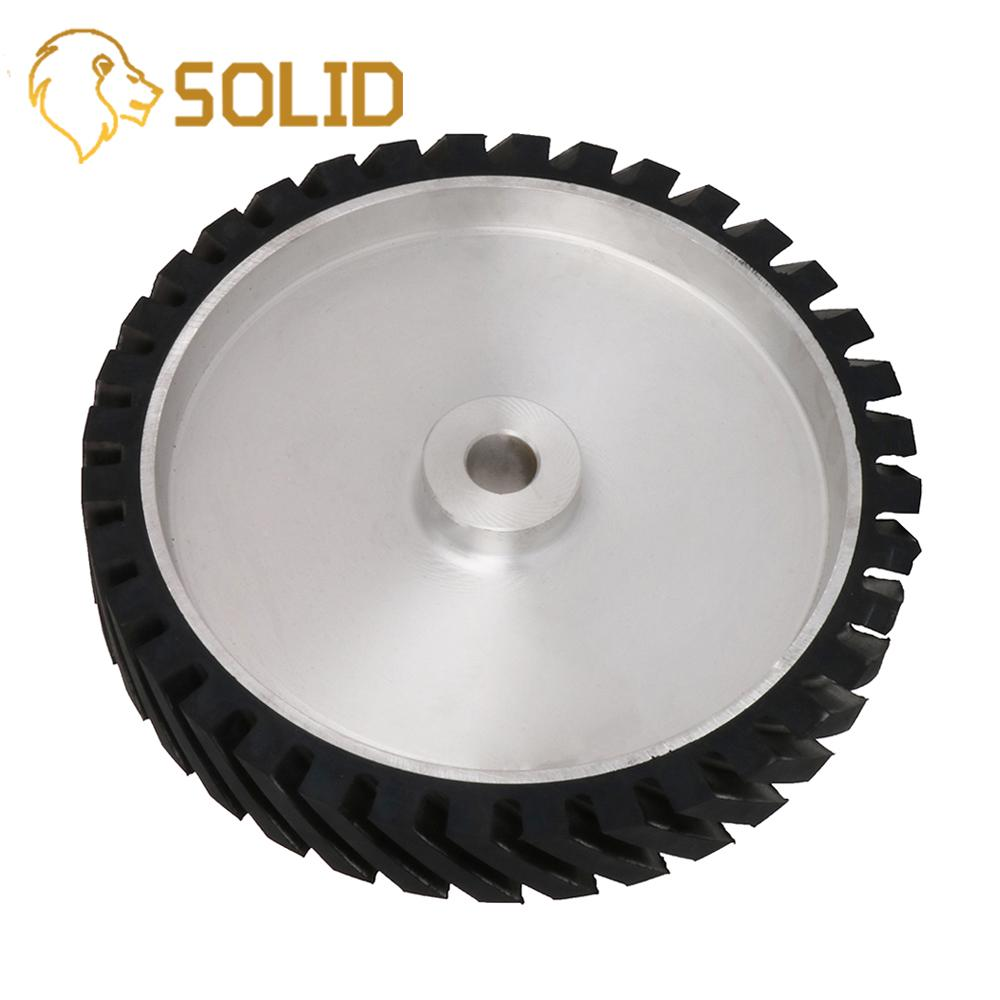 350X25X50mm Serrated Belt Grinder Contact Wheel Rubber Wheel For Abrasive Sanding Belt Hardness 45/55/65/75