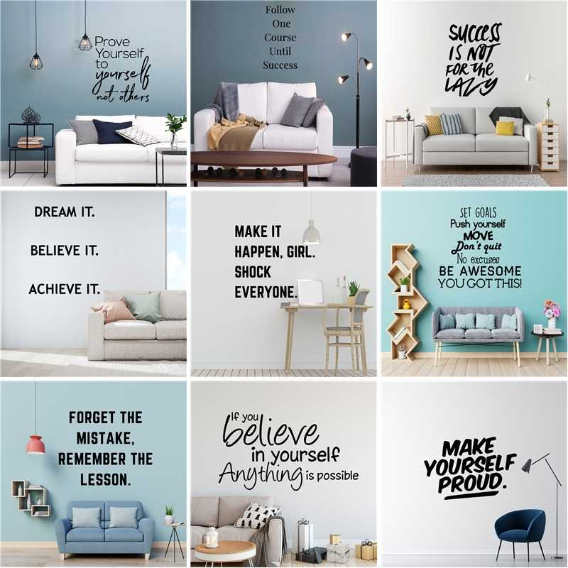 Motivation Vinyl Wall Sticker Dream Phrase Quotes For Office Room House Decoration Mural Kids Bedroom Decor Living Room Aliexpress