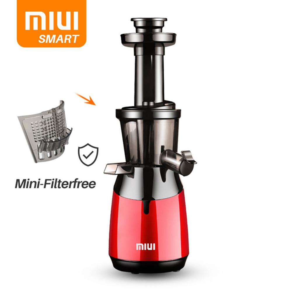 MIUI Slow Juicer Cold Press Juicer Multi-segment Helical Masticating Juice Extractor Mini-FilterFree Patented Deft Design Smart