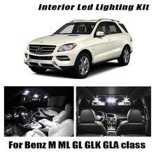Blanco Canbus coche LED Interior mapa Kit de luz de techo para Mercedes Benz M ML GL GLK GLA clase W163 W164 W166 X164 X166 X156 X204