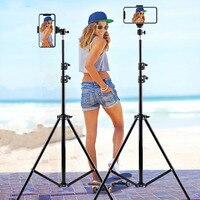 Trípode para Selfie para iphone, Gopro, Xiaomi, Samsung, soporte Flexible para teléfono inteligente, trípode plegable de aluminio para cámara