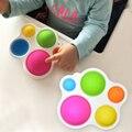 Детские игрушки Монтессори, тренировочная доска, погремушка, головоломка, игрушка, красочные детские фиджеты, Игрушки для развития интелле...