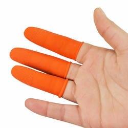 100 sztuk/zestaw silikonowe palce czapki Anti slip Finger Protector pokrowiec odporne na temperaturę palców pokrywa dla narzędzia do grillowania w Ochraniacze na palce od Dom i ogród na