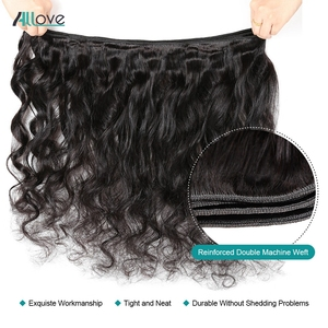 Image 3 - Allove Loose Wave Bundles With Frontal Human Hair 3 Bundles With Frontal Indian Hair Bundles With Closure Non Remy Lace Frontal