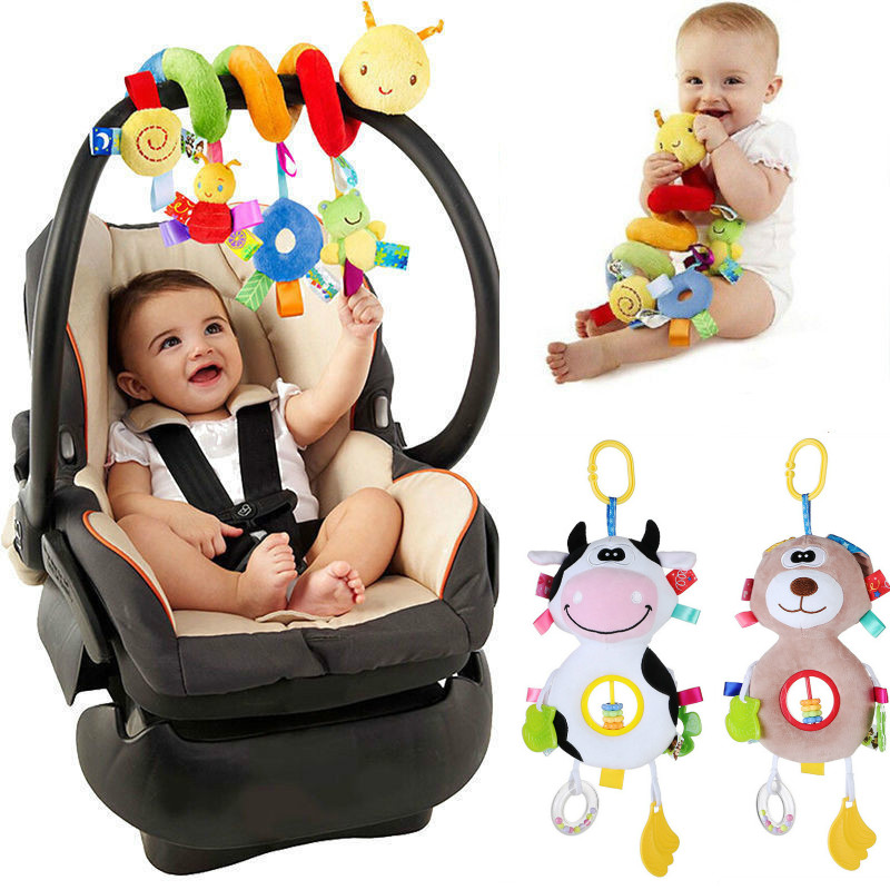 2020 Latest Cute Activity Spiral Stroller Car Seat Travel Hanging Toys