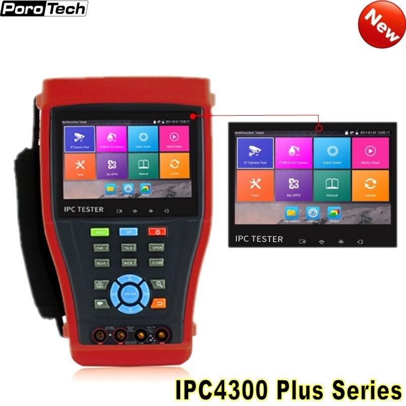 Free Shipping IPC4300 PLus Series CCTV Tester Monitor 4.3