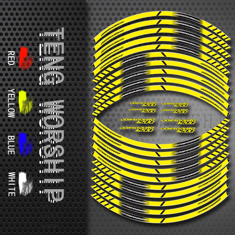 Fit APRILIA CAPONORD Motorcycle Tyre Stickers Inner Wheel Reflective Decoration Decals