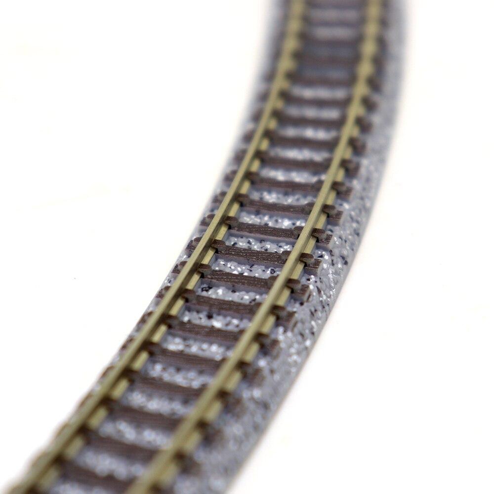 1:160 N Scale Model Train Track Plastic Railroad Model Train Toy Miniature Diorama Train Scene Making Material Railway Track Kit