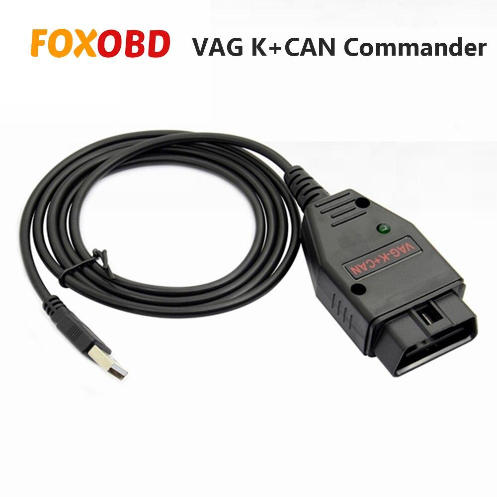 Top For Vag Scanner VAG K+CAN Commander 1.4 Obd2 Diagnostic Scanner Tool OBDII VAG 1.4 COM Cable