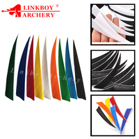 "24pcs/36pcs 4"" Shield Shape Right Wing Fletching Turkey Feather Vanes for carbon Arrow Crossbow traditional bow Hunting