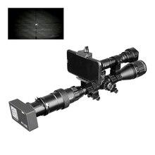 Visão noturna 960 p ao ar livre escopo visão dia noite ao ar livre caça câmeras wifi tático digital infravermelho conexão lanterna