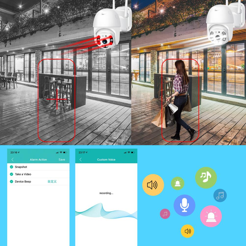Image 3 - BESDER 1080P FHD H.265 Waterproof WiFi Camera Motion Voice Alert Dual Antenna IP Camera Audio IR Night Vision CCTV Surveillance-in Surveillance Cameras from Security & Protection