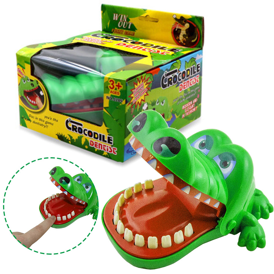 Big Funny Crocodile Biting Finger Gags Parent-child Interactive Toys Family Desktop Party Game For Children April Fools Day Gift