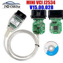 MINI VCI V15.00.028 최신 버전 FTDI FT232RQ 칩 고성능 OBD SAEJ2534 For Toyota/Lexus MINI VCI TIS Techstream