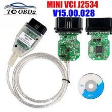Mini Vci V15.00.028 Nieuwste Versie Ftdi FT232RQ Chip Hoge Prestaties Obd SAEJ2534 Voor Toyota/Lexus MINI VCI Tis Techstream