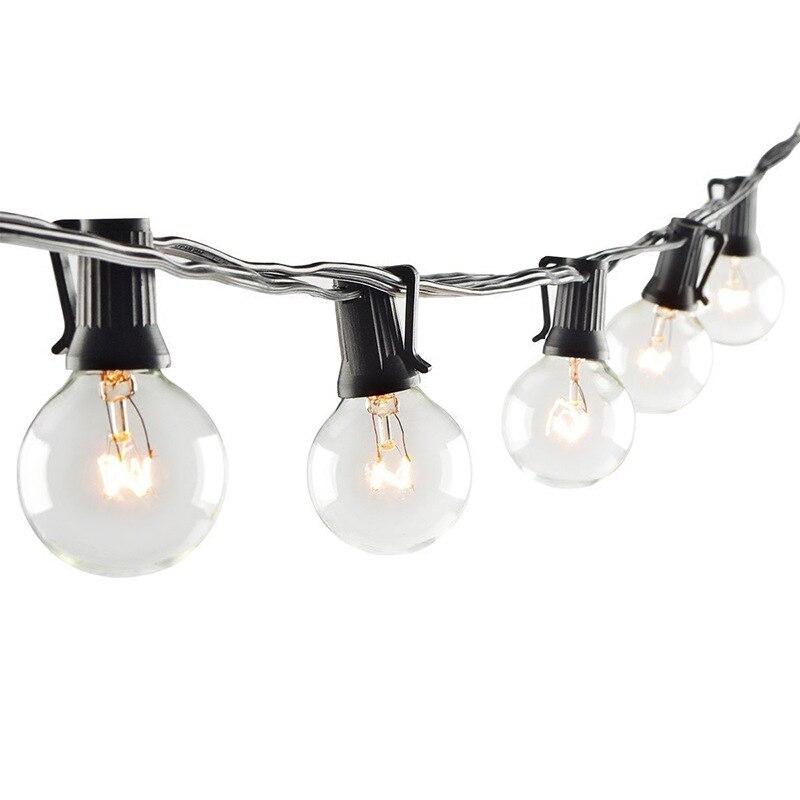 Image 5 - 25Ft G40 Bulb Globe String Lights with Clear Bulb Backyard Patio Lights Vintage Bulbs Decorative Outdoor Garland WeddingLighting Strings   -