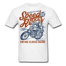 Motorcycle Race - Speed Racer - Vintage Classic Bike Racing - Men's T-Shirt