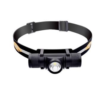Linterna frontal recargable COB lámpara frontal mejorada 1200 lúmenes Ultra brillante Cree LED linterna recargable Sensor de movimiento Camping