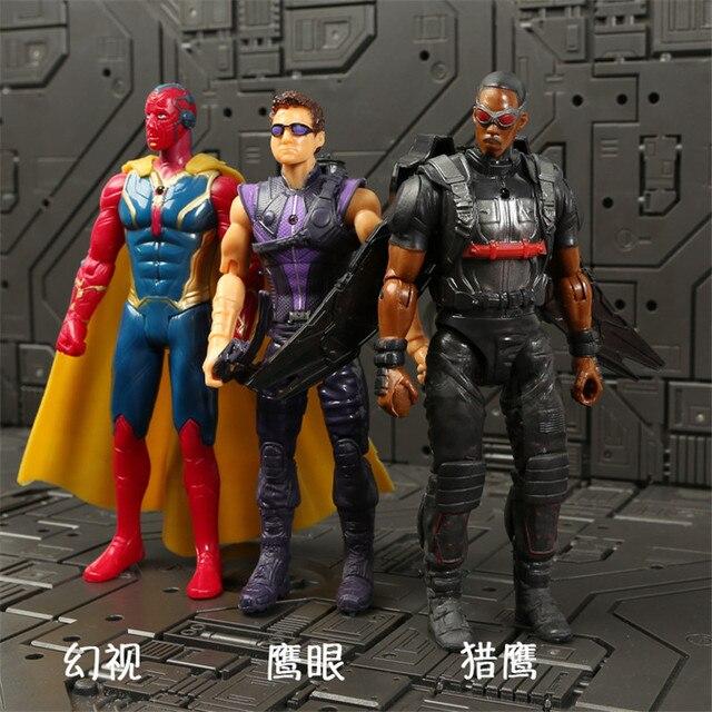 Marvel Avengers 3 Infinity War Movie Anime Super Heros Spiderman Captain America Iron Man Hulk Thor Superhero Action Figure Toys 5