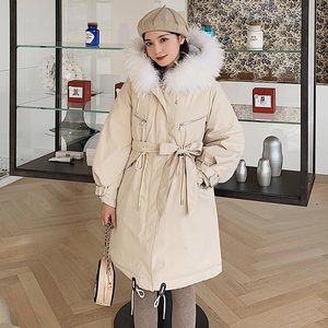 Image 2 - معطف نسائي شتوي من Vielleicht  30 درجة ، معطف طويل دافئ من الفرو الصناعي موضة 2019 ، ياقة طويلة بقلنسوة