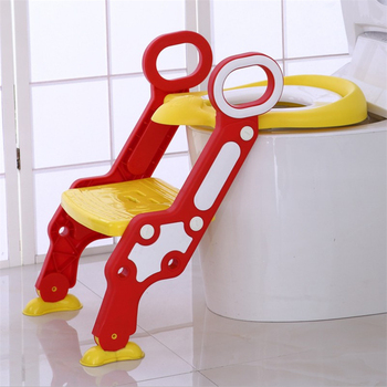 Baby Potty Training Seat Children's Potty Adjustable Ladder Toilet Infant Babies Toilet Seat Training Folding Seat With Cushion jinobaby bamboo aio diapers heavy wetter potty training pants for babies