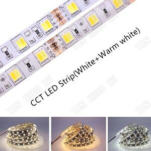 SMD 5050 RGB Светодиодная лента Водонепроницаемая 5 м 300LED DC 12 В 24 В CCT RGBCCT RGBW RGBWW белый теплый белый Fita светодиодные полосы Гибкие