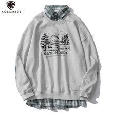 Осенние толстовки aolamegs для пары Мужской Повседневный пуловер