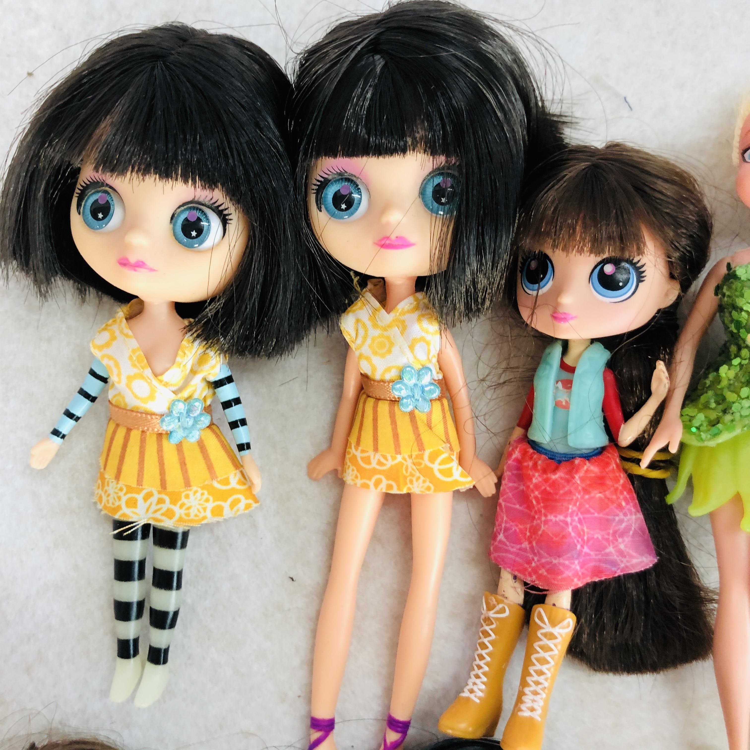 Original New 15cm Big Eyes Short Hair Cute Doll  Doll Toy Lovely Doll Christmas Gift