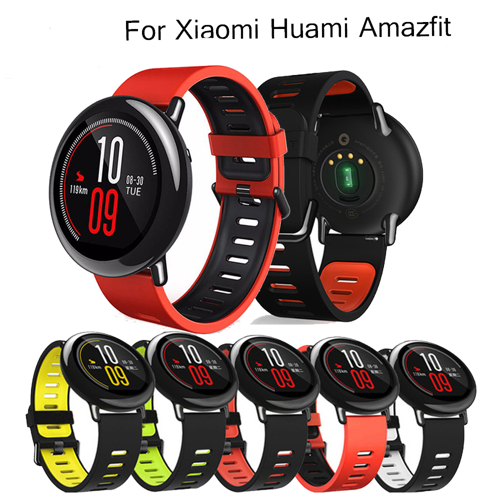 For Amazfit Acessorios Silicone Wrist Strap For Xiaomi Huami Amazfit PACE Stratos 2 2S Watch Replacement Band Smartwatch Correa