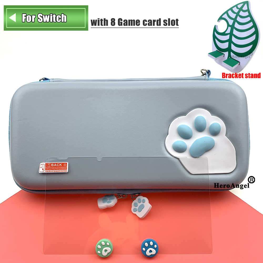 Para Nintendo Switch/Lite accesorios bolsa de almacenamiento cubierta protectora para Nintendo Switch Lite Mini 16 juegos + Vidrio Templado
